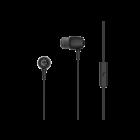 Earbuds metal - audio oortjes met microfoon 3,5mm zwart