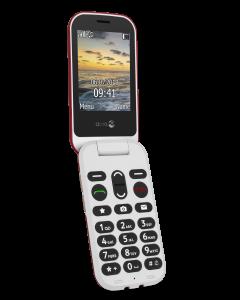 DUMMIE 6060 Klaptelefoon (Rood-Wit)