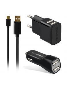 ChargMate-EU2 Alles-in-één oplaadset voor Micro-USB-apparaten