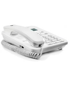 CT202 Vaste Telefoon Met Display (Wit) Zijkant