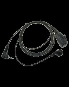 Speldmicrofoon met oortelefoon en PTT voor ALINCO/PD365