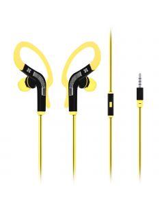 Snazzy In-Ear Sport Earbuds / Oortjes met haak (Geel)