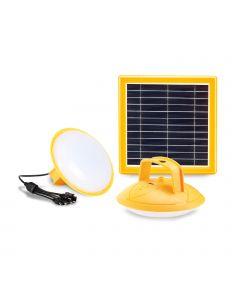 SolarLamp-2 LED kampeer lamp met snel oplaadbaar zonnepaneel en ingebouwde powerbank