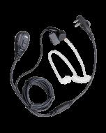 EAM13 2-dradige surveillance oortelefoon met transparante akoestische buis en VOX
